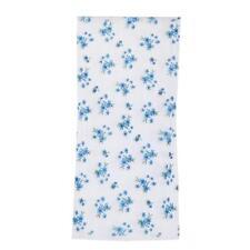 Rideaux Voilages Anciens Lin Motif Fleur Art Déco Fenêtre 200x100cm Bleu