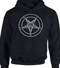 Baphomet Devil Homage Hoody Black Men's Satan Lucifer Goat Of Mendes