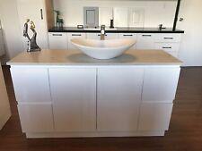 1500mm Bathroom Vanity SoftClose+Marble Featured Quartz Stone+ceramic Basin