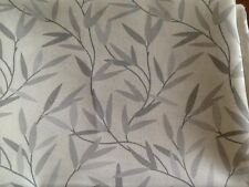 Laura Ashley Willow Leaf Grey fabric Table Runner - Linen Fully Lined. New!