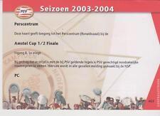 Sammler Used Ticket / Entrada Presscentre PSV FC Utrecht v PSV 15-04-2003