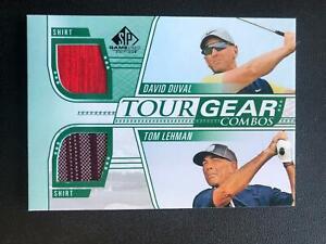 David Duval/Tom Lehman 2021 SP Game Used Dual Shirt Relic  Golf T18