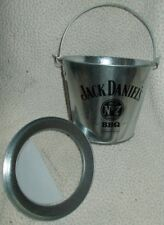 Metal Party Bucket Jack Daniels Old #7 BBQ Includes Lid & Excellent Condition