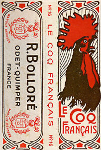 Le Coq Francais 1917 by R Bollore Vintage French Advertising Poster Art Print
