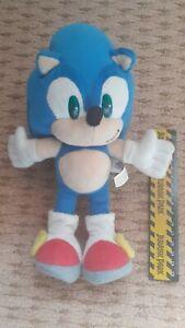"Sonic the Hedgehog Sega Prize Europe Plush Sonic X 10"" RARE Plastic Eye 1st Run"