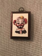 Thayer Clown Miniature Wood Plaque