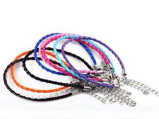 H 10X Wholesale Jewelery Leather Mixed Color Braided Charm Bulk Unisex Bracelets