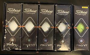 15 Titleist Pro V1 Golf Balls New In Box (12 White & 3 Yellow)