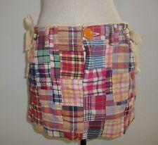 American Eagle Size 6 Plaid Colorful Mini Skirt