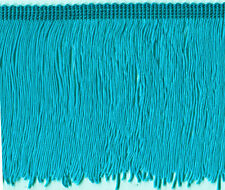 "5"" TEAL CHAINETTE  FRINGE FABRIC TRIM 10 YARDS"