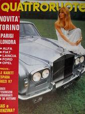 Quattroruote 178 1970 Prove Kadett, Espada, Guzzi V7. Manifesto Regazzoni [Q93]