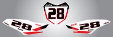 Honda CRF 125 2014 - 2015 model custom number plate stickers / decals Storm