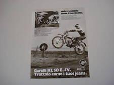advertising Pubblicità 1975 GARELLI KL 50 E. 5V.