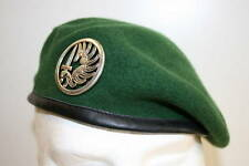 GENUINE FRENCH FOREIGN LEGION PARACHUTE PARA 2ND REP BERET SIZE 57 7 1/8  ORIG