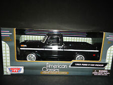 Motormax Ford F100 1969 Black 1/24