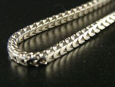 10K 3.0 Mm White Gold 38' Inch Solid Franco/Snake Chain