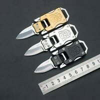 1*Stainless Steel Outdoor Mini Folding Knife Pocket EDC Keychain Survival Tools