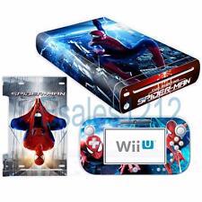 Marvel Spider Man Vinyl Skin Decal Sticker for Nintendo Wii U Console Controller