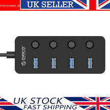 ORICO 4-Port USB 3.0 Hub 5Gbps High Super Speed Adapter W/ Cable For PC And Mac
