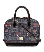 Disney Dooney & Bourke Mickey Minnie Hello Mate England Satchel Purse Bag NWT