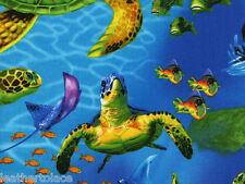 Timeless Treasures ~  SEA TURTLES OCEAN REEF LIFE ~ 100% Cotton Quilt Fabric BTY