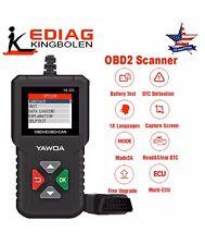 Car OBD2 Scanner Code Reader Battery Test Read/Clear Codes OBDII Diagnostic Tool