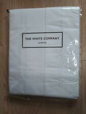 The White Company: New (unopened) Kingsize Flat Sheet 100% cotton; Versailles