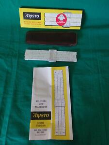 Rechenschieber Aristo 868 Studio Rechenstab Side Rule Sliderule Rechengerät