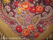 Warm Winter Woolen scarf Original Russian Folk Pavlovo Posad Shawl wrap kerchief