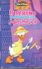 Paperino nel  mondo della Matemagica (1957) VHS Disney MiniClassic