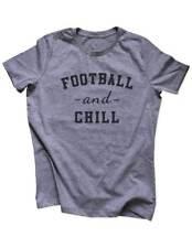 Football And Chill sports workout running fitness Women / Men Triblend Shirt