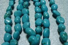 6-8mm turquoise stone nugget beads, 3 strands 53 bds/st, New Old Stock BIN11