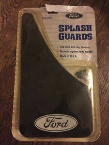 Vintage Ford Splash Guards 1987 Black With White Ford Oval Front Rear BC-FD200