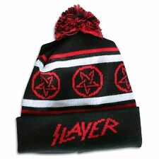 SLAYER Razor Bobble Pentagram Pom Hat Cap Beanie