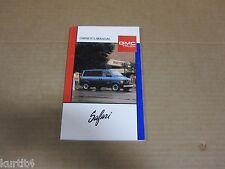 1989 GMC Safari Van Minivan owners manual ORIGINAL book literature