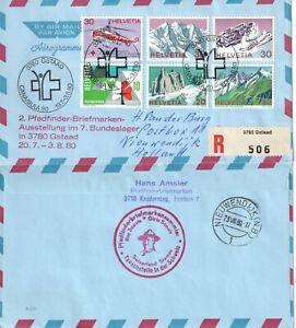 Switzerland Scout Pfadfinder 1980 registered cover Gsaad