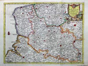 1729 Splendid Van der Aa Map of Artois, France