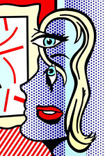 Art Critic A1 by Roy Lichtenstein High Quality Canvas Print