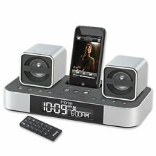iHome iH51 2.1 Micro System with Dual Alarm Clock Radio for iPod (Silver)
