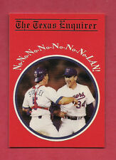 RARE TEXAS RANGERS NOLAN RYAN THE TEXAS ENQUIRER  CARD