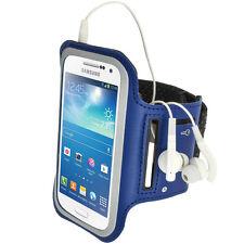 Blau Anti-Rutsch Sports Armband für Samsung Galaxy S4 SIV Mini I9190 I9195