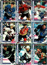 1996-97 FLEER ROOKIE SENSATIONS INSERT CARDS - PICK SINGLES - FINISH SET Rare BV