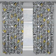 Despicable Me 3 Minions Movie Jailbird Childrens Pair of Curtains - 66 X 54