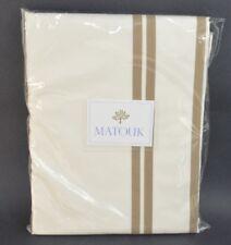 Matouk Twin Flat Sheet Meridian Gray, S320, Sierra 350TC Percale 72x102