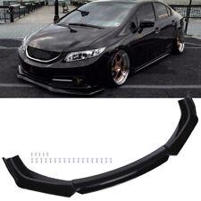 For 2013 2015 2014 9th Honda Civic Sedan Si Front Bumper Lip Splitter Spoiler Hg Fits 2013 Honda Civic Si