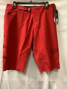 Fox Head Mens Red Elastic Waist Regular Fit Mountain Bike Flexair Shorts Size 36