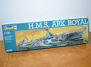 Vintage REVELL H.M.S. ARK ROYAL Model Kit Military Ship 1:720 Scale 1984 Sealed