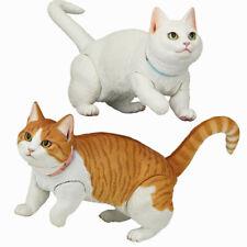 Lovely Short Legged Munchkin Cat White Cat Small Animal Toys Pvc Action Figure