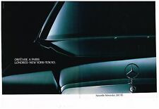 Publicité Advertising 1987 (2 pages) Nouvelle Mercedes 260 SE