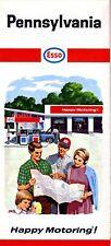 1966 Humble / Esso Road Map: Pennsylvania NOS
